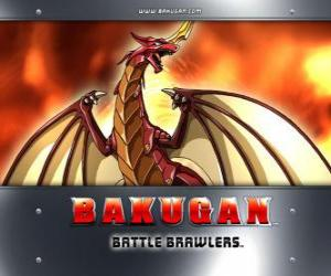 Pyrus Drago ist die Hüterin der Bakugan Dan puzzle