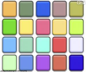 Quadrate der Farben puzzle