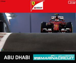 Räikkönen G.P Abu Dhabi 2015 puzzle
