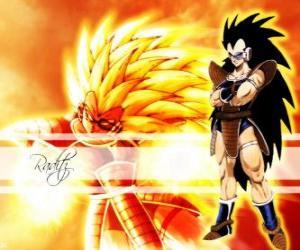 Raditz, ein Saiyajin, Son Goku älterer Bruder, der es geschafft, die Zerstörung des Planeten zu überleben Vegeta puzzle