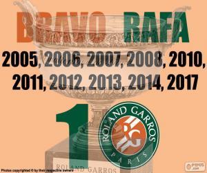 Rafa Nadal, 10 Roland Garros puzzle