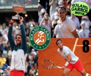 Rafael Nadal Meister Roland Garros 2013 puzzle