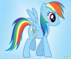 Rainbow Dash, ein Pegasos Pony mit der Regenbogen-Schwanz puzzle