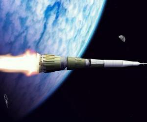 Rakete in den weiten des Weltalls puzzle