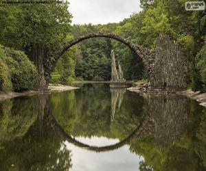 Rakotzbrucke Teufelsbrücke, Deutschland puzzle