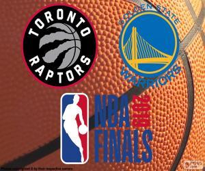 Raptors-Warriors, NBA Finals 2019 puzzle