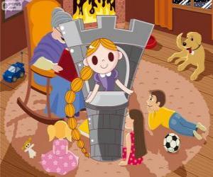 Rapunzel. Die langhaarige Prinzessin im Turm puzzle
