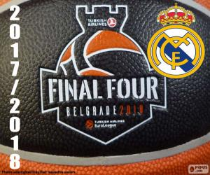 Real Madrid, 2018 Euroleague-Meister puzzle