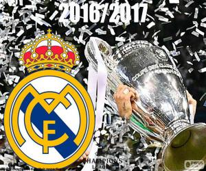 Real Madrid Champions League 2016-2017 puzzle