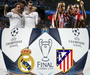Real Madrid Vs Atletico. Final UEFA Champions League 2013-2014. Estadio da Luz, Lissabon, Portugal puzzle
