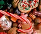 Verschiedene leckereien - Bonbons, candy-sticks