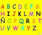 Alphabet mit großbuchstaben