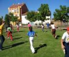 Gruppe Kinder spielen