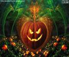 Typische Halloween-Kürbis