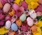 Hasen mit Ostern eier