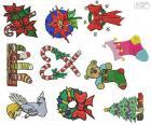 Christmas ornaments Zeichnungen