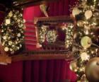Treppenhaus dekoriert
