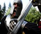 Krieger kämpfen eine schlacht