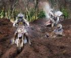 Motocross viel Schlamm