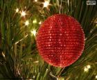 Glänzende Weihnachten Kugel