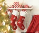 Socken-Weihnachten-Kamin