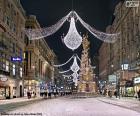 Street dekoriert für Weihnachten