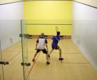 Spiel von squash