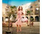 Barbie Schauspielerin Dreharbeiten eine Ad -