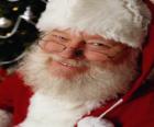 Happy mit seiner Nikolausmütze und weißem Bart