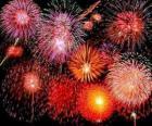 Feuerwerk zur Feier der Silvesternacht