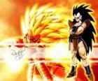 Raditz, ein Saiyajin, Son Goku älterer Bruder, der es geschafft, die Zerstörung des Planeten zu überleben Vegeta