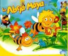 Die Biene Maja und ihr Freund Willi unter den Augen von Flip und anderen Zeichen