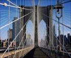 Hängebrücke über den Fluss, New York
