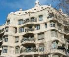 Werke von Antoni Gaudí. La Pedrera Casa Mila oder von Gaudi, Barcelona, Spanien.