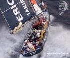 Segelboot in das Volvo Ocean Race