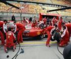 Ferrari Boxenstopp Praxis, Shanghai 2010