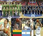 Litauen - Argentinien, Viertelfinale, 2010 FIBA World Türkei