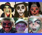 Kinder Schminke für Halloween