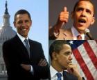 Barack Obama der erste schwarze Präsident halten das Büro der Vereinigten Staaten von Amerika