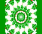 Mandala mit Weihnachtsschmuck
