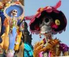 Der Schädel Catrina, einer der beliebtesten Day of the Dead in Mexiko