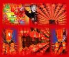 Das Laternenfest ist das Ende des chinesischen Neujahrsfest. Schöne Papierlaternen