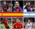 Nominiert für FIFA Ballon d'Or 2010 (Andrés Iniesta, Xavi Hernández, Lionel Messi)