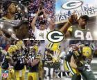 Green Bay Packers feiern ihre Super Bowl 2011 gewinnen