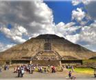Pyramide der Sonne, dem größten Gebäude in der archäologischen Stadt Teotihuacan, Mexiko