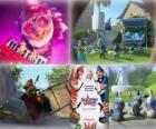 Mehrere Bilder von Gnomeo und Julia