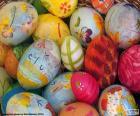 Eiern dekoriert