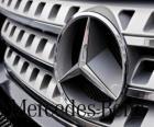 Mercedes-Logo, Mercedes-Benz, Deutsche Fahrzeuge der Marke. Drei-Stern von Mercedes