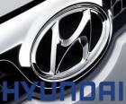 Hyundai-Logo, Marke des Autos in Südkorea