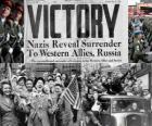 Gedenken an den alliierten Sieg über den Nationalsozialismus und dem Ende des Zweiten Weltkriegs. Tag des Sieges, 8. Mai 1945